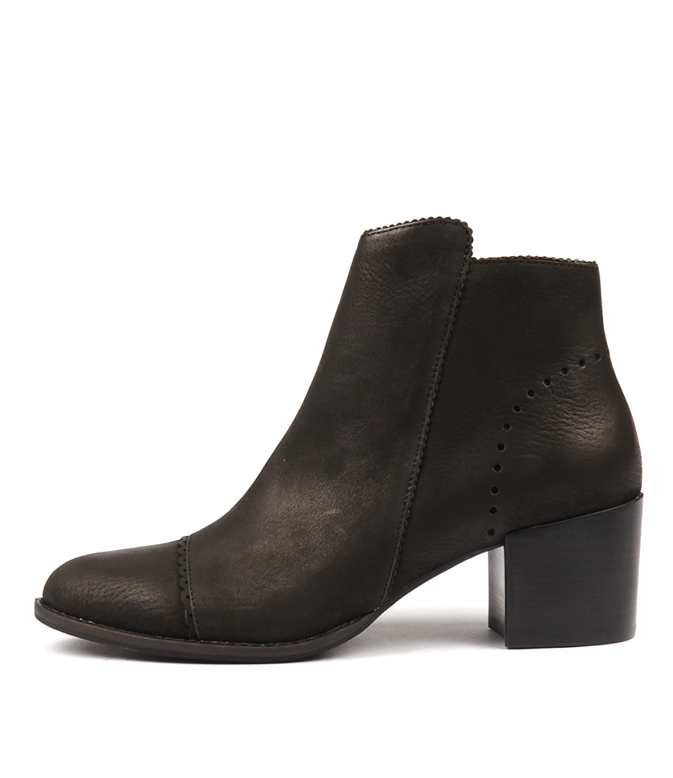 Silent D Money Black Ankle Boots