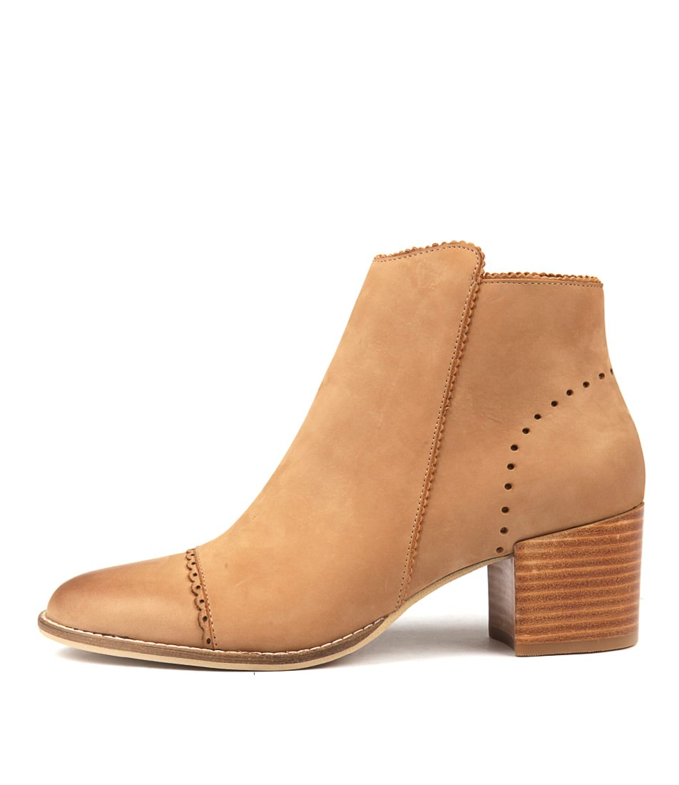 Silent D Money Camel Ankle Boots