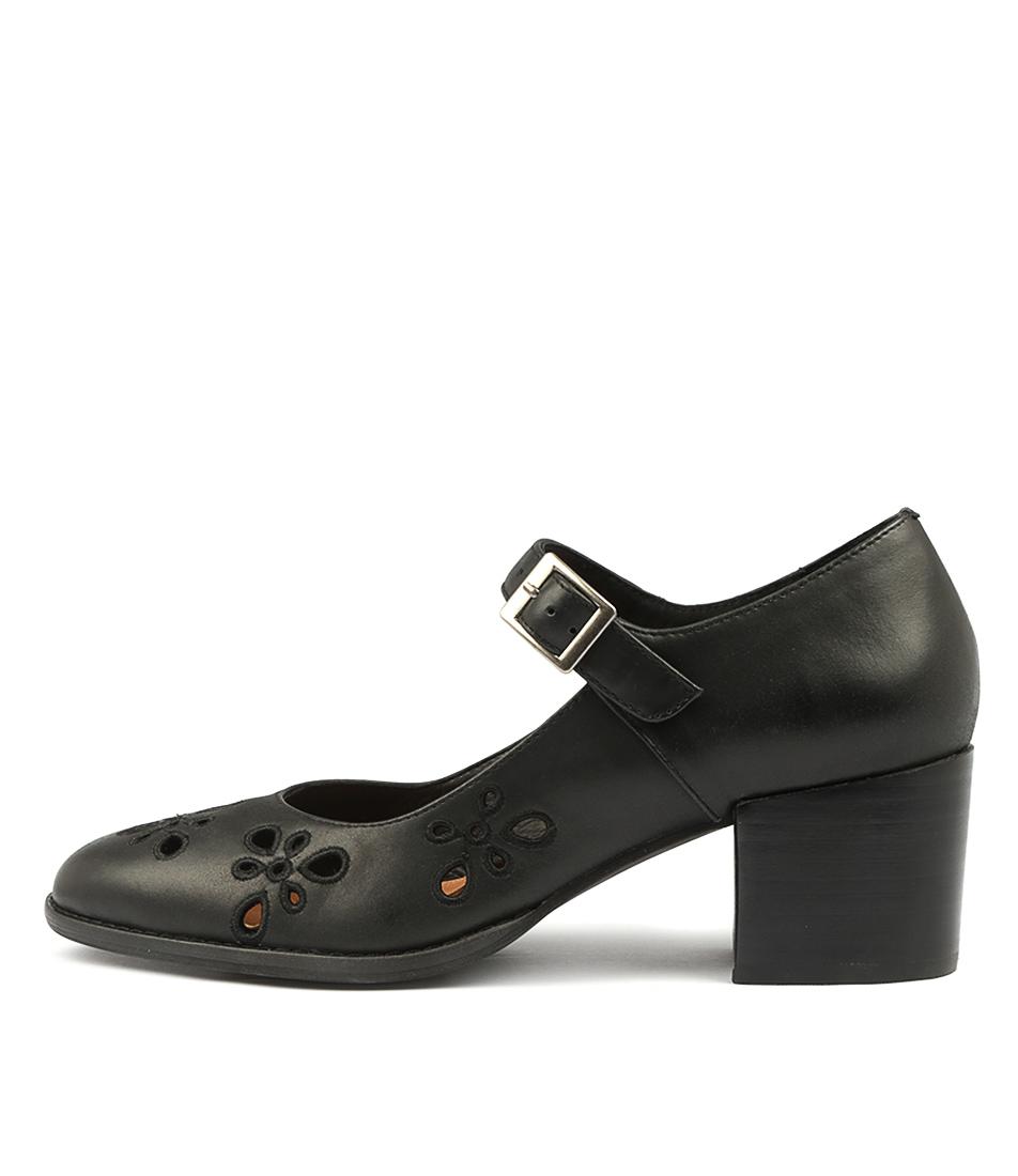Silent D Muffy Black High Heels