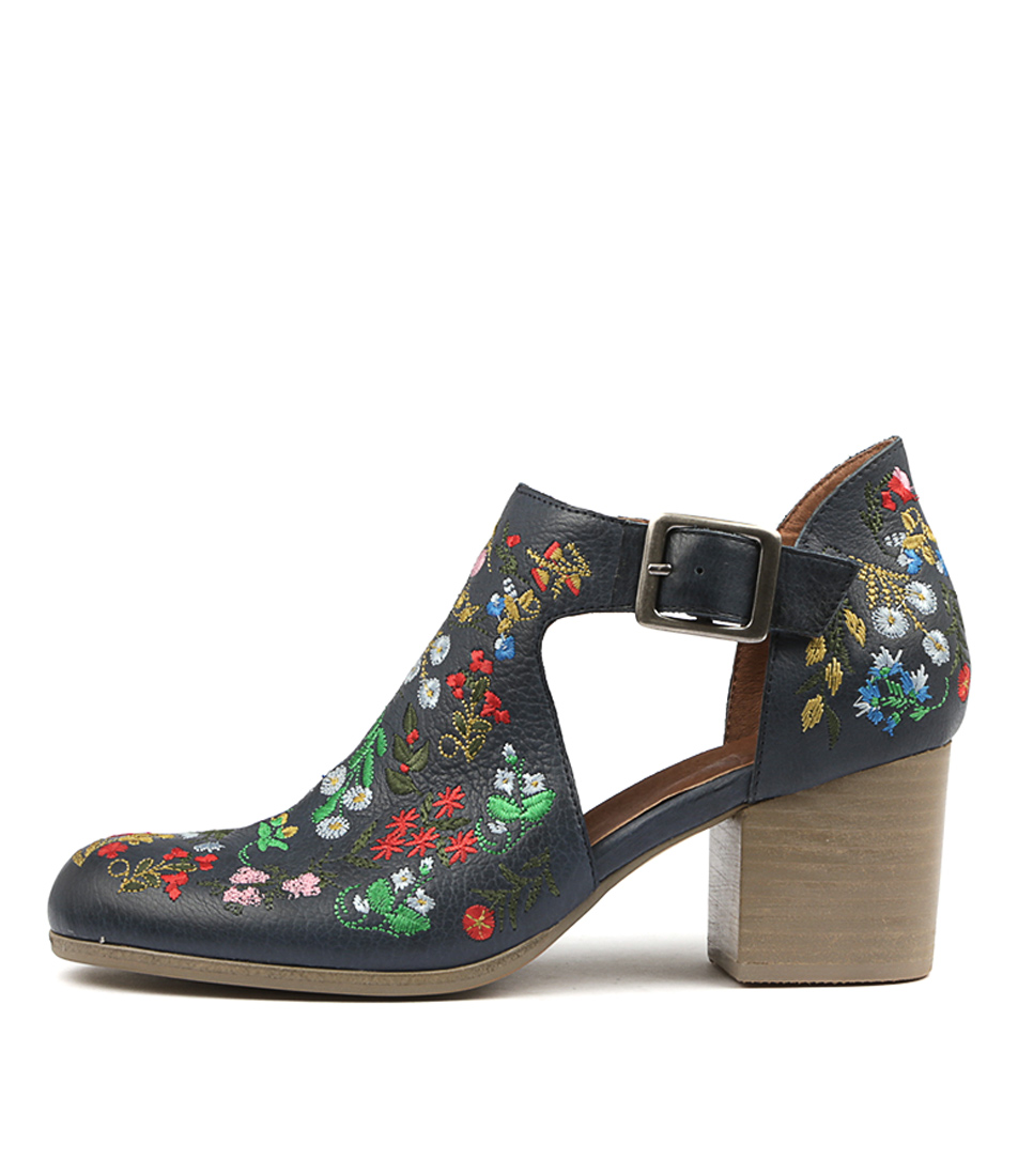 Silent D Rollup Dk Navy Bright Ankle Boots