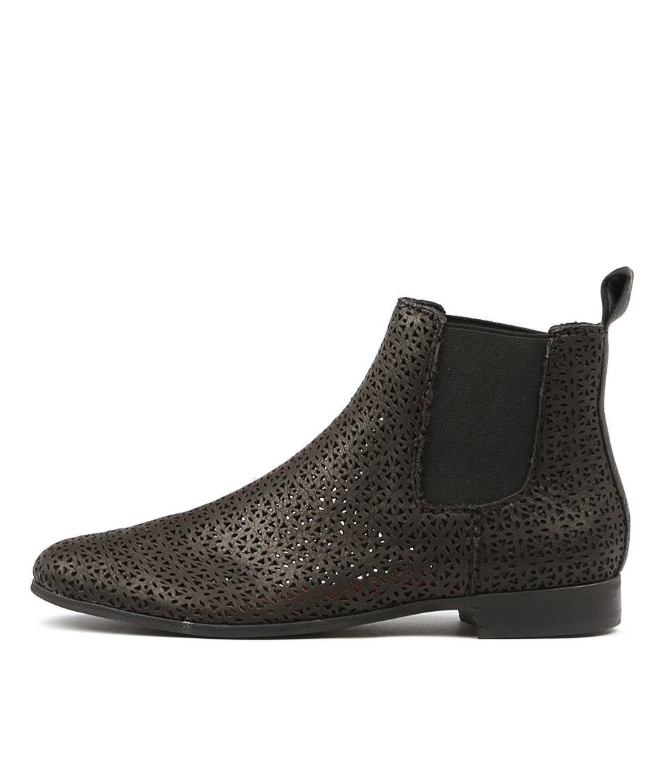 Silent D Guava Black Ankle Boots