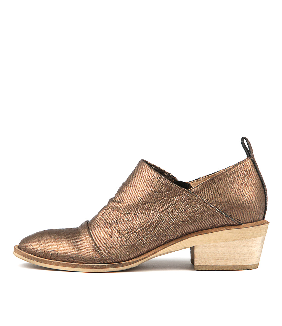 Silent D Hotel Bronze Heeled Shoes