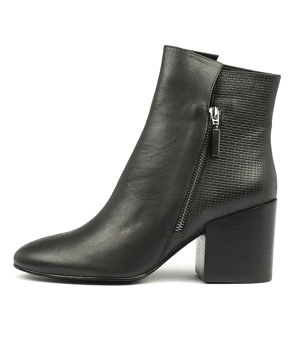 Silent D Wings Black Ankle Boots