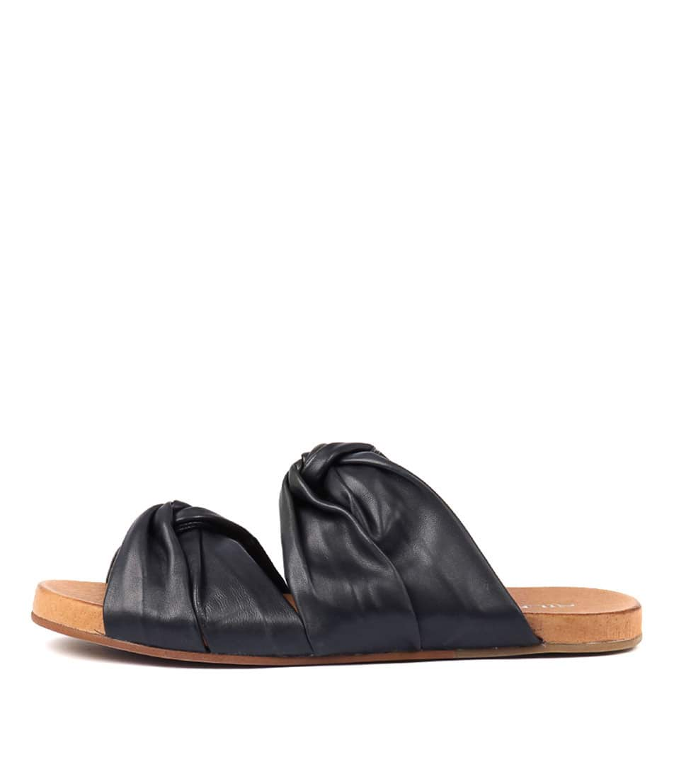 Buy Silent D Albin Navy Flat Sandals online with free shipping