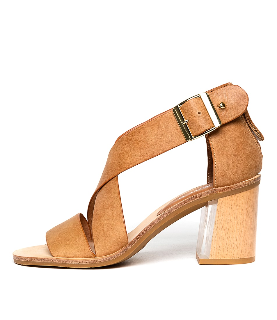 Buy Silent D Hays Tan Heeled Sandals online with free shipping