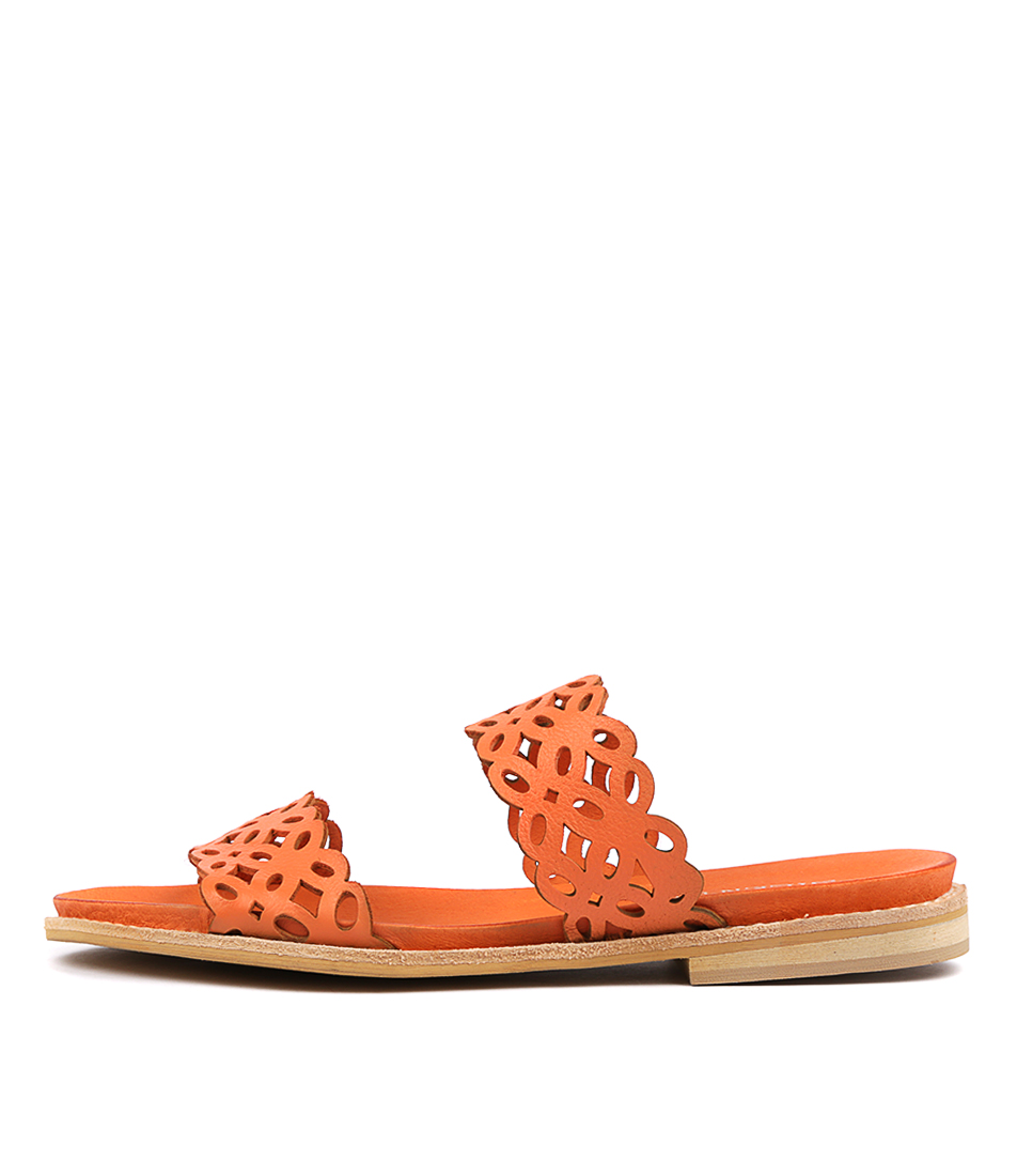 Buy Silent D Kaia Orange Flat Sandals online with free shipping