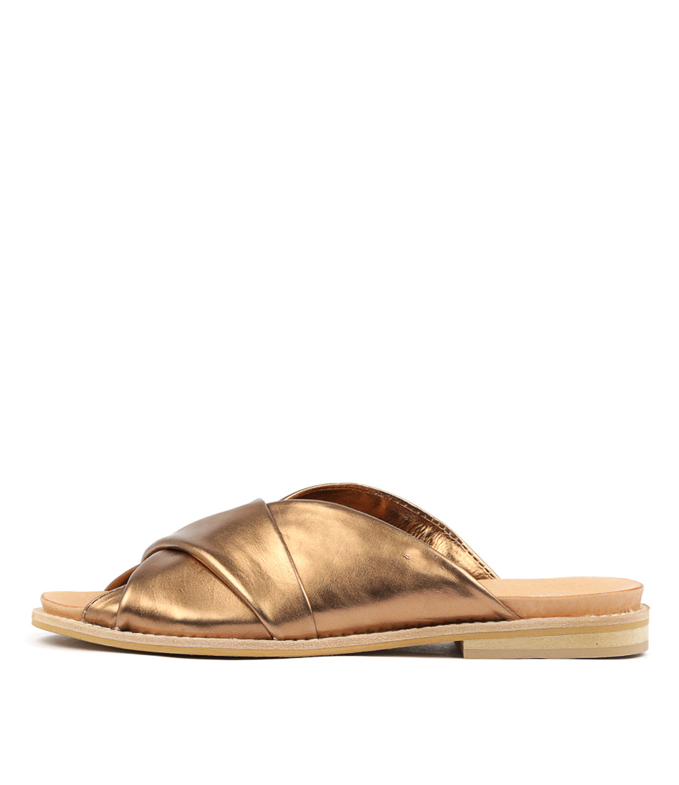 Buy Silent D Kendra Bronze Flat Sandals online with free shipping