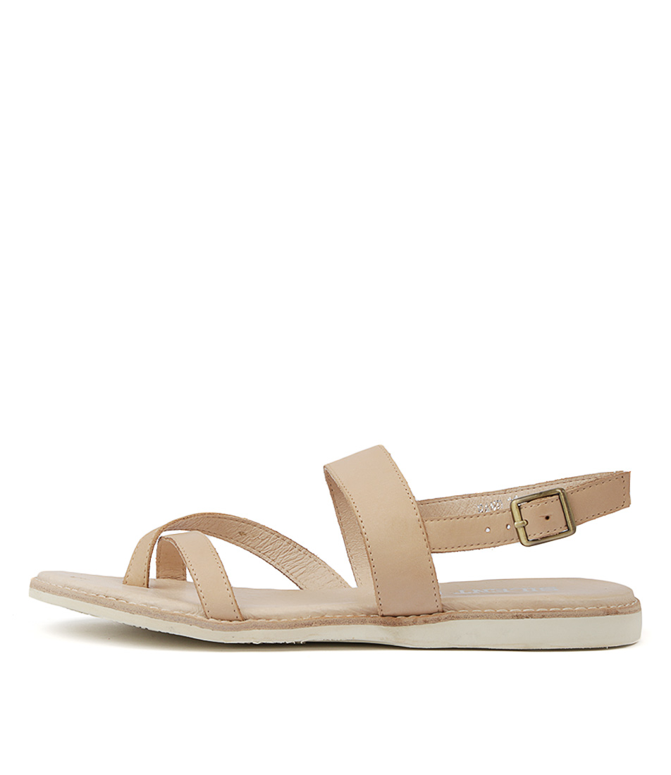 Buy Silent D Rand Nude Flat Sandals online with free shipping