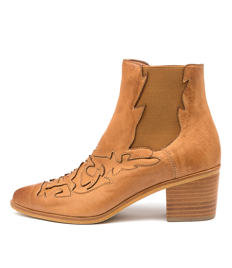 Buy Silent D Effa Dk Tan Ankle Boots online with free shipping