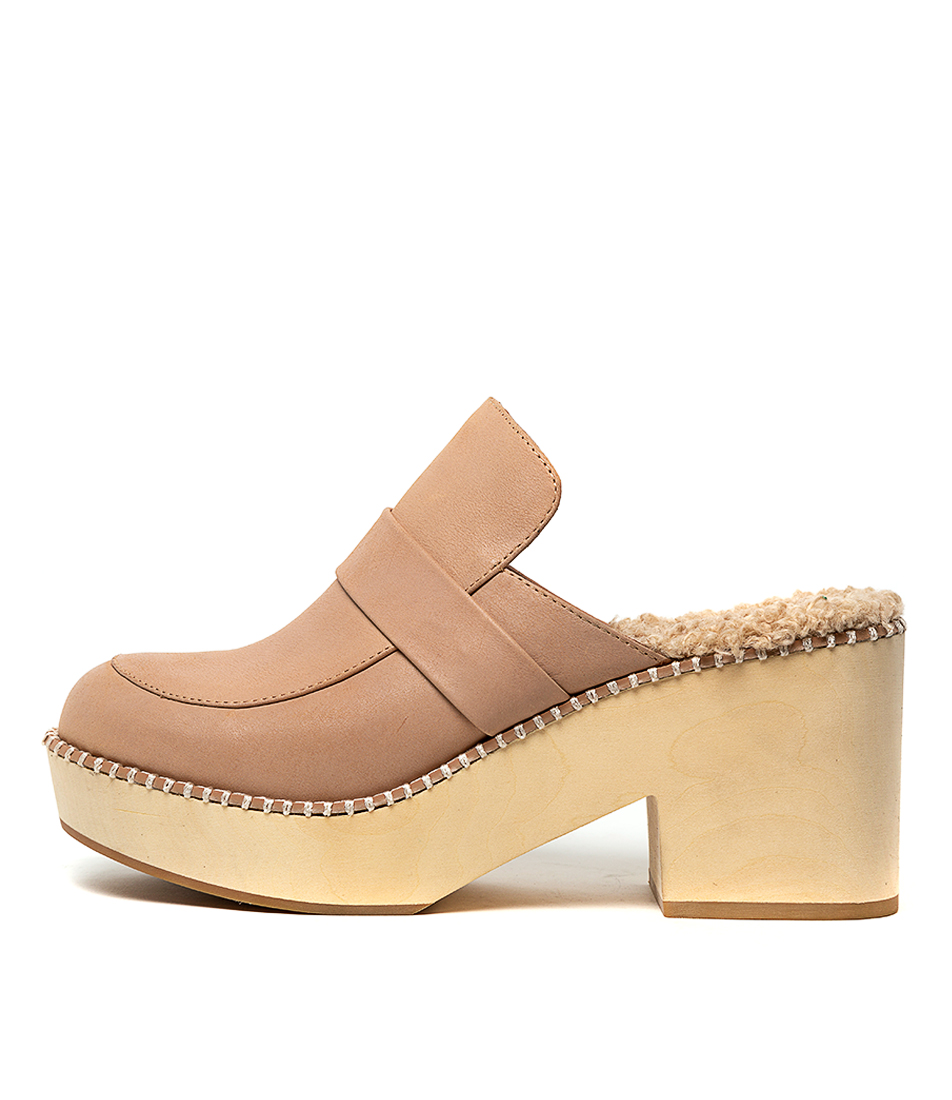 Buy Silent D Fenton Latte Heeled Shoes online with free shipping