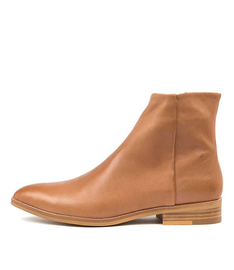 Buy Silent D Pated Dk Tan Ankle Boots online with free shipping