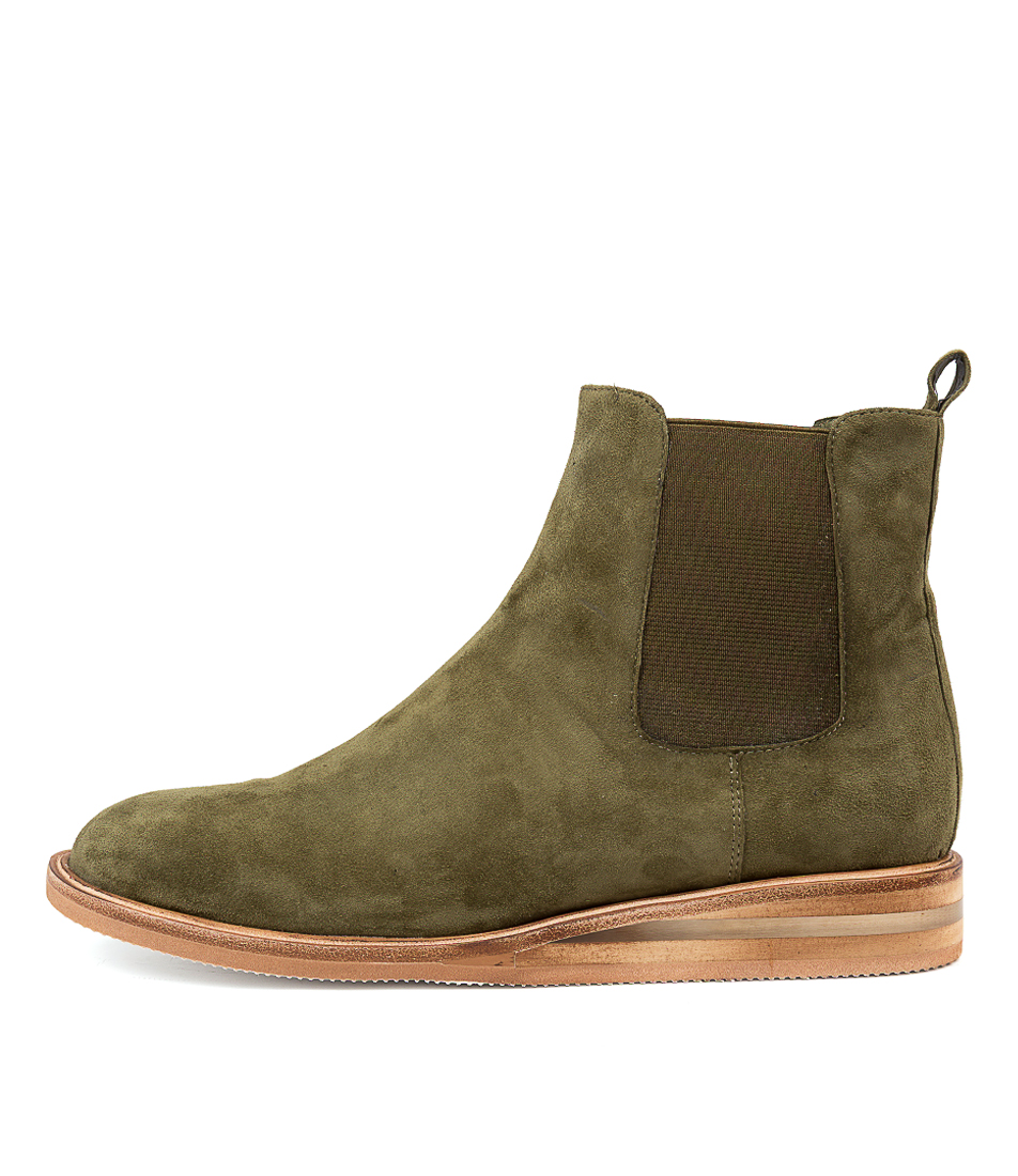 Buy Silent D Yancy Dk Khaki Ankle Boots online with free shipping