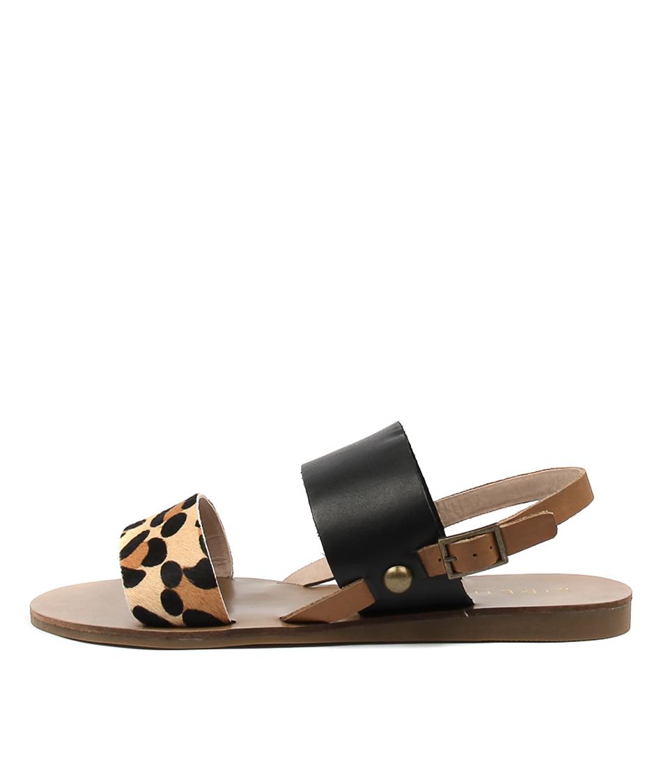 Siren Becca Ii Ocelot Black Mu Casual Flat Sandals