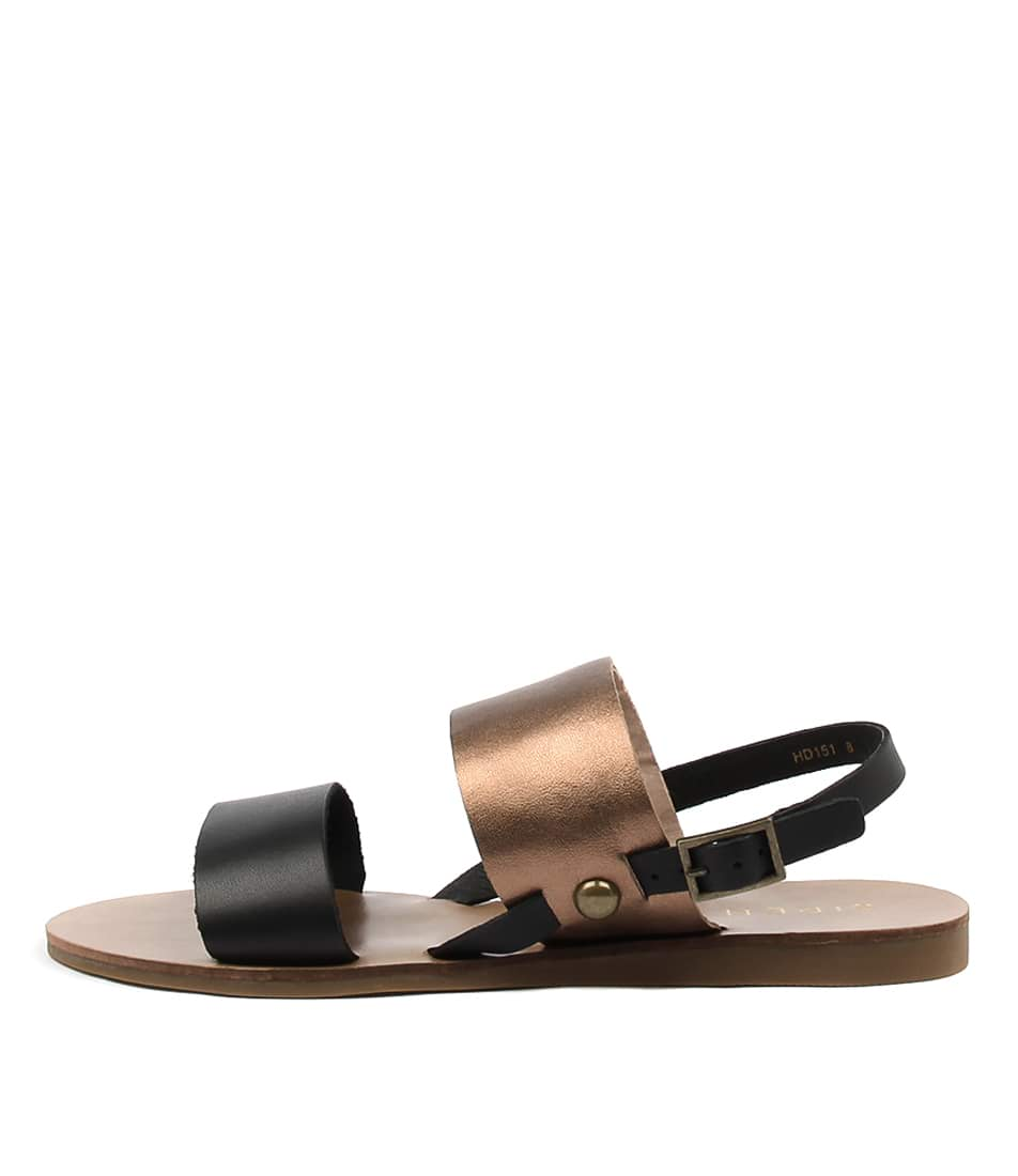 Siren Becca Ii Bronze Black Mu Casual Flat Sandals