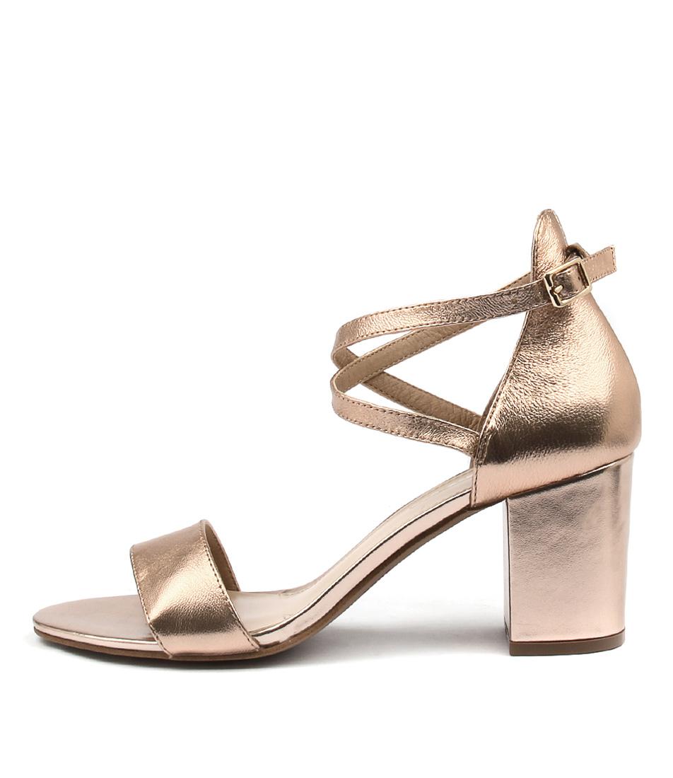 Siren Flinn Rose Gold Heeled Sandals