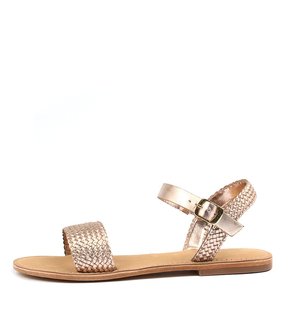 Photo of Siren Bocca Rose Gold Sandals, shop Siren heels online
