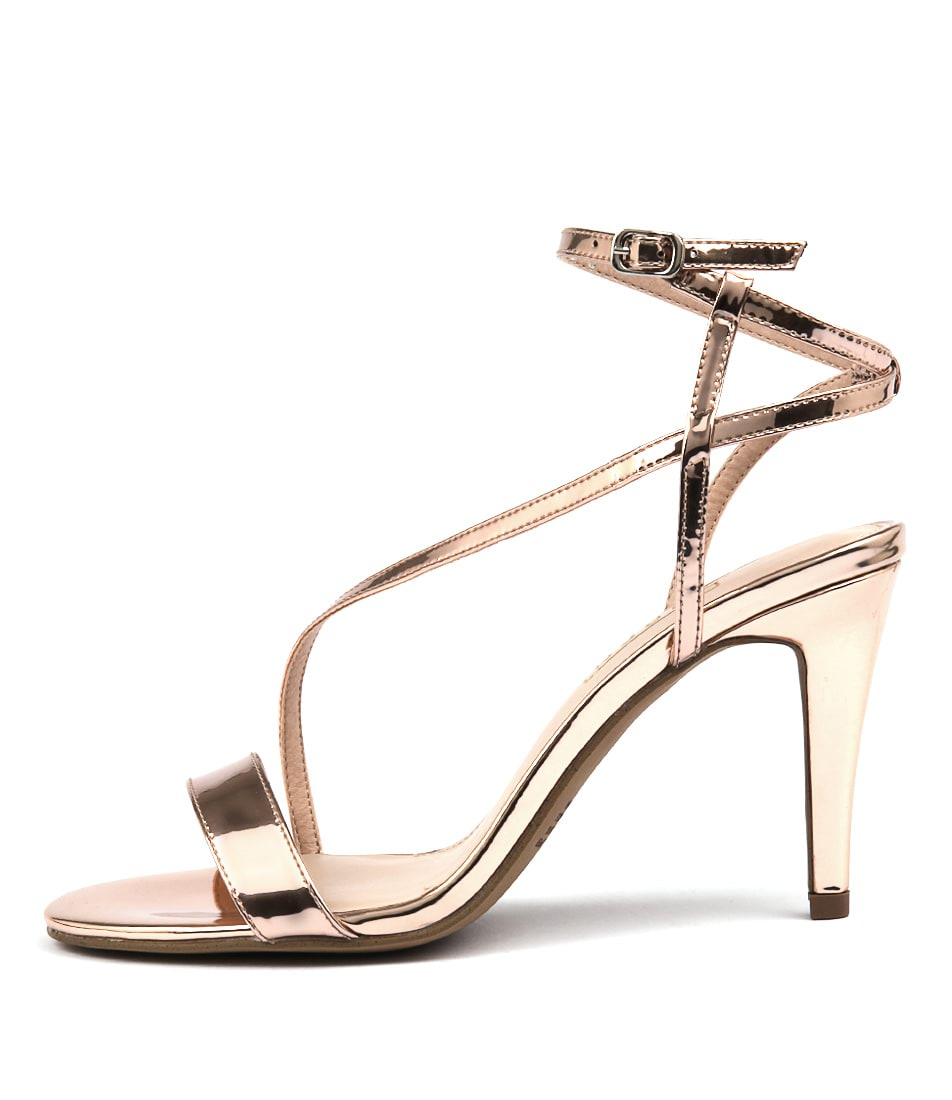 Photo of Siren Cherry Si Rose Gold Mirro Sandals, shop Siren heels online
