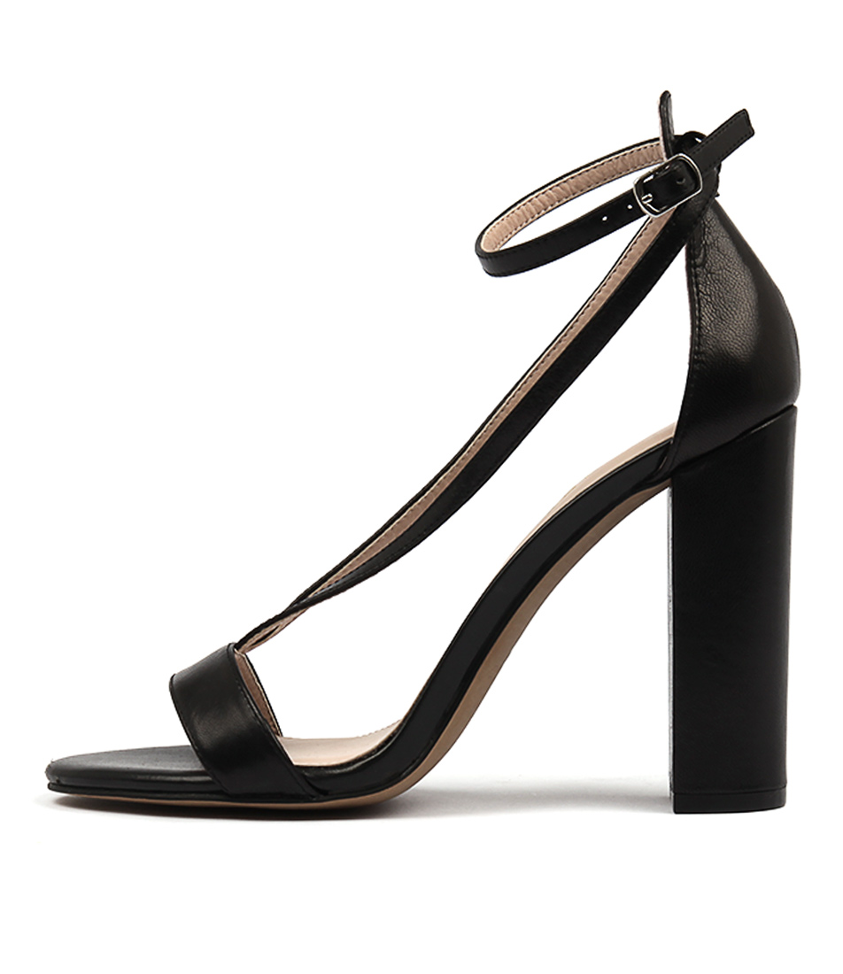 Siren Kendall Black Dress Heeled Sandals