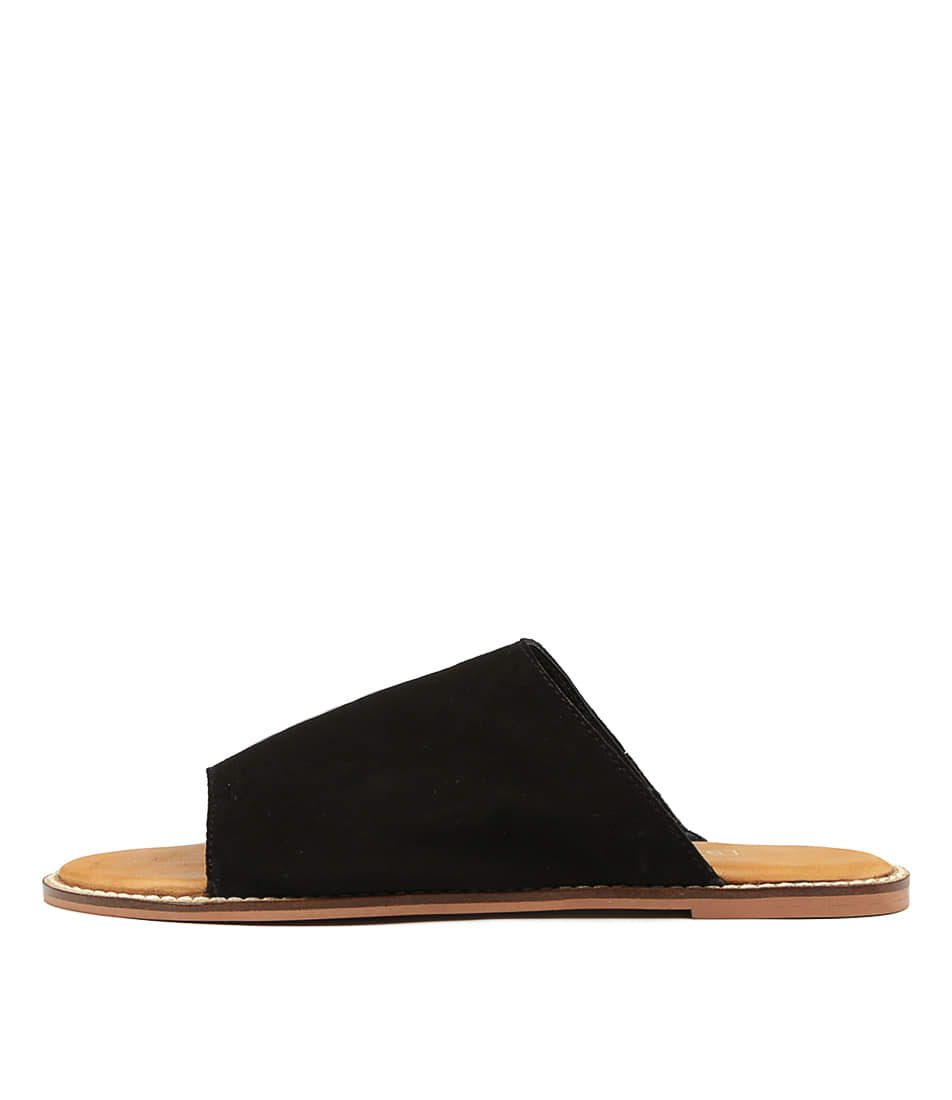 Buy Siren Tracee Black Flat Sandals online with free shipping