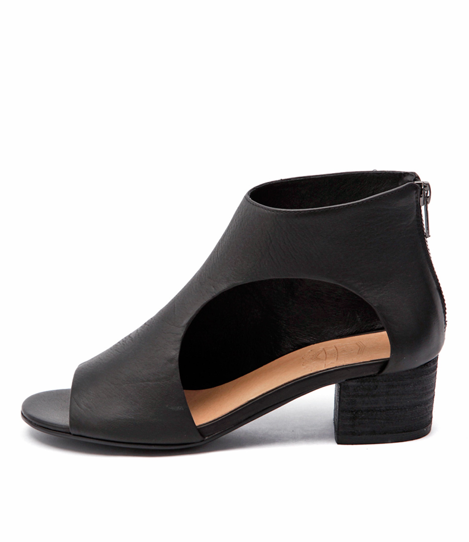 Silent D Exia Black Casual Heeled Sandals buy  online
