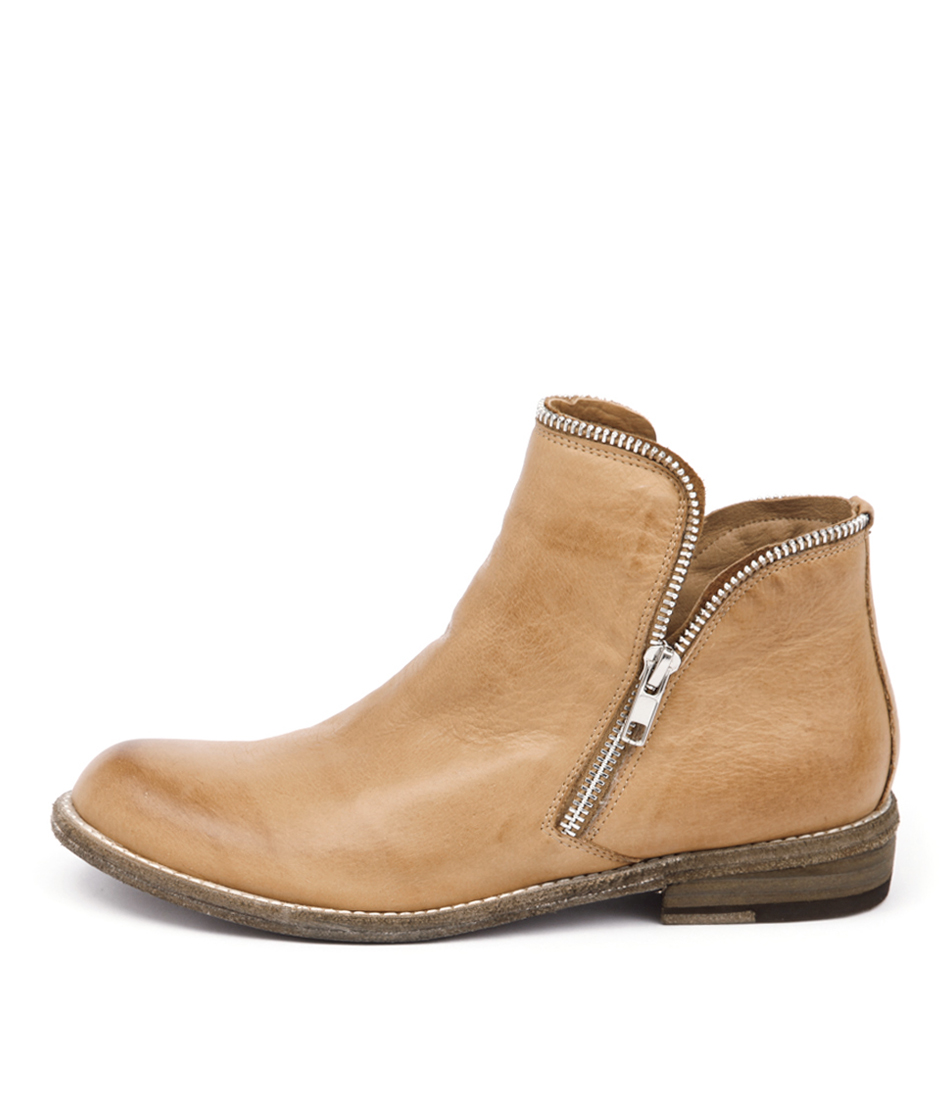 Silent D Crow Tan Casual Ankle Boots