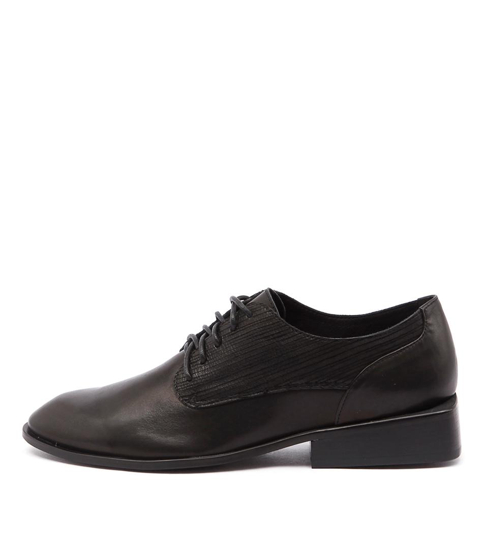 Silent D Peeps Sd Black Shoes