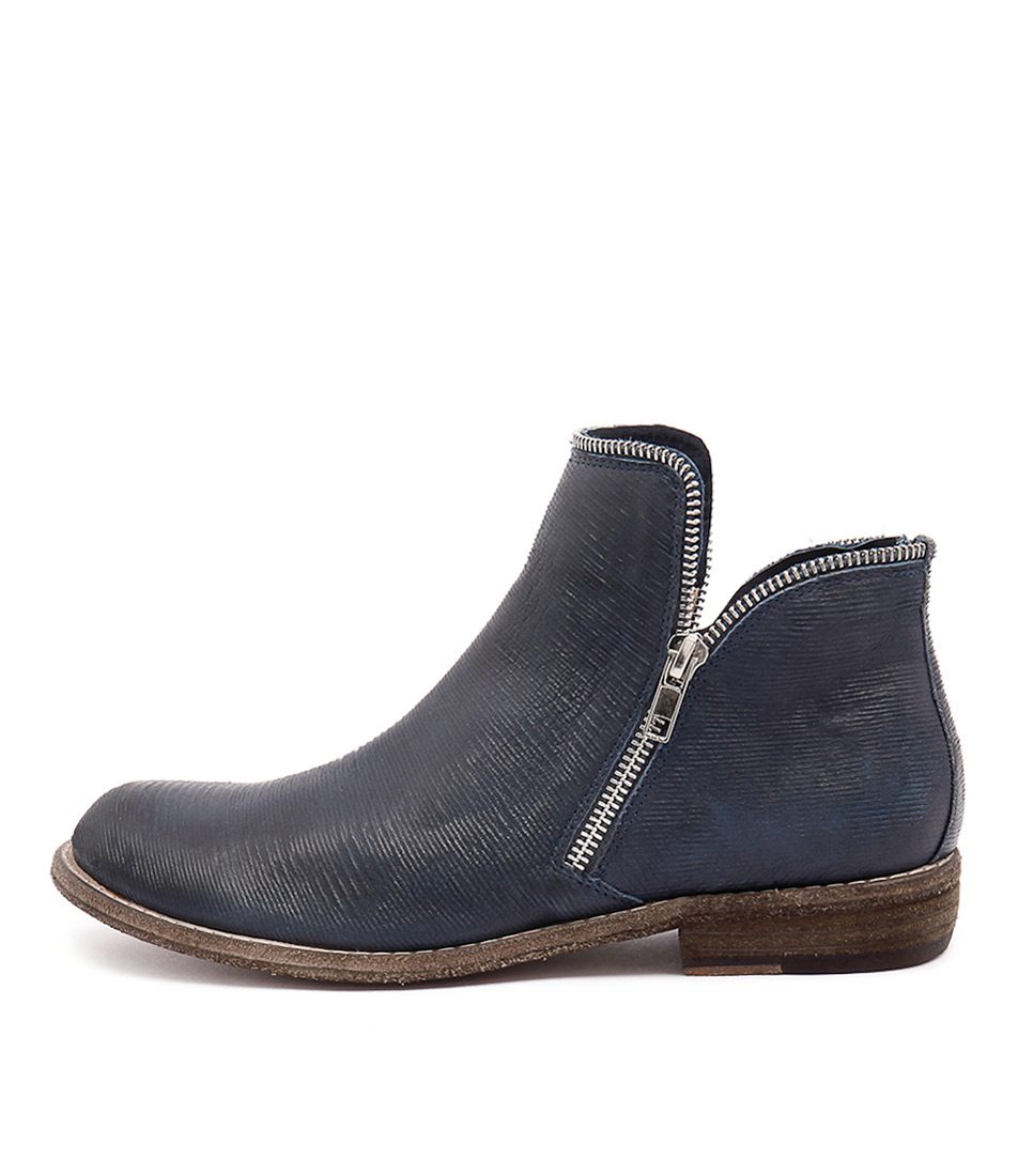 Silent D Cappa Navy Ankle Boots