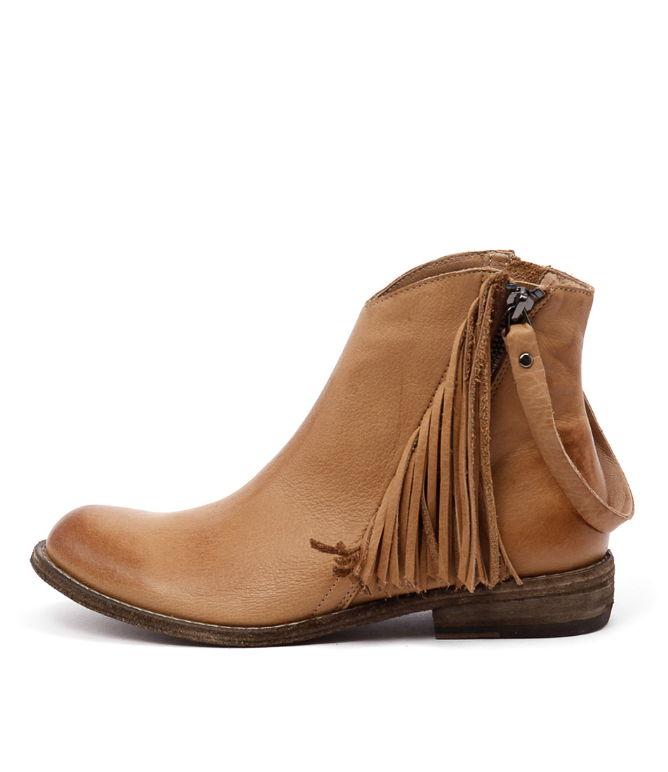 Silent D Cerva Tan Ankle Boots