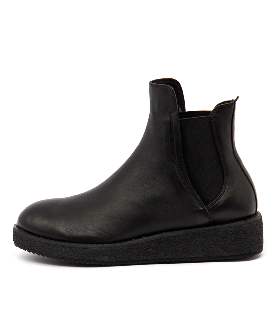 Silent D Nippa Black Casual Ankle Boots