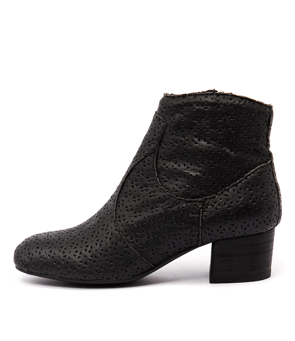 Silent D Ego Black Ankle Boots