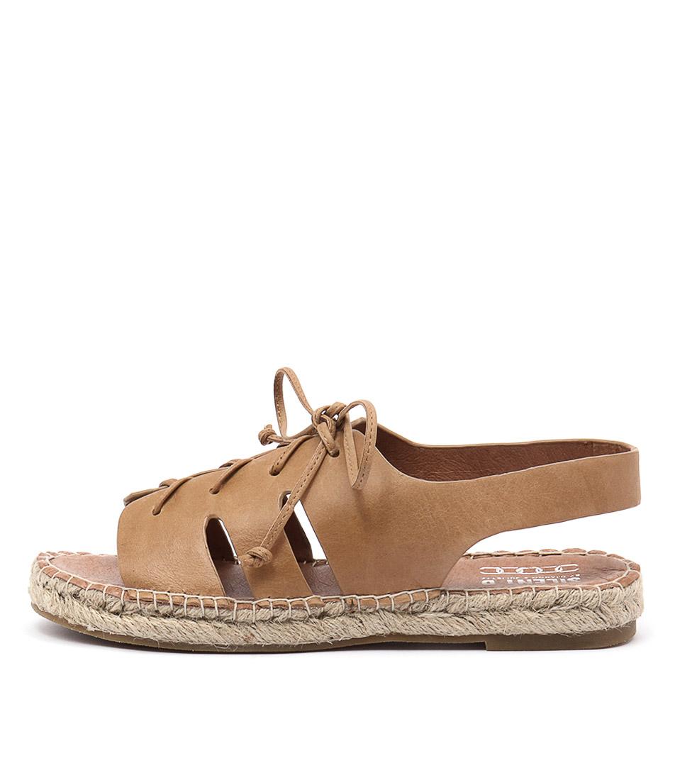 Silent D Elwood Tan Flat Sandals