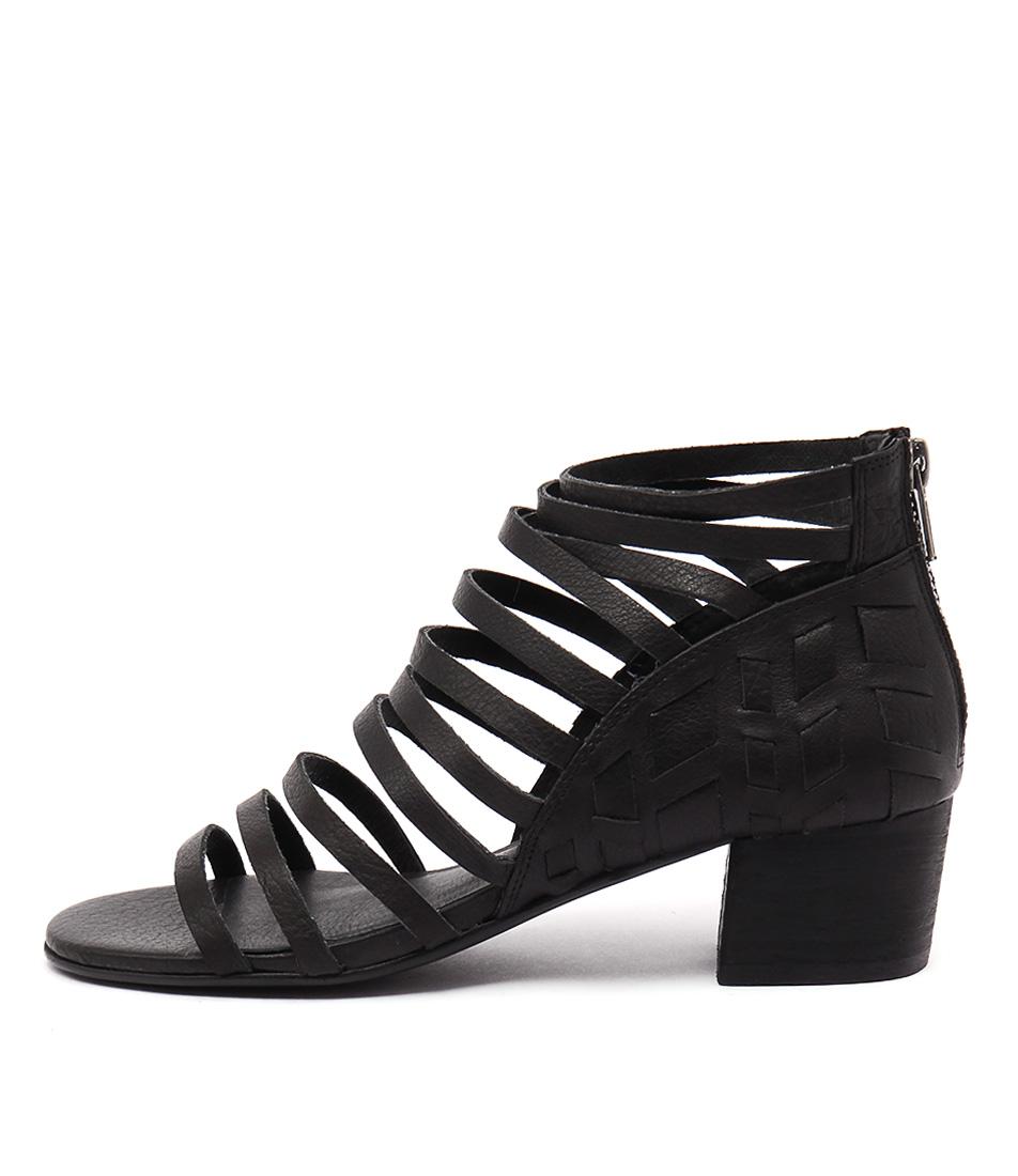 Silent D Erica Black Heeled Sandals