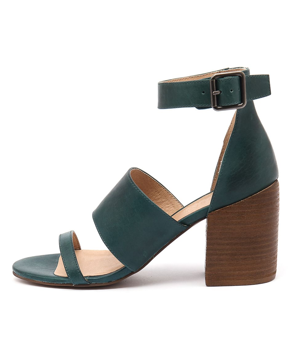 Silent D Kandle Turquoise Casual Heeled Sandals