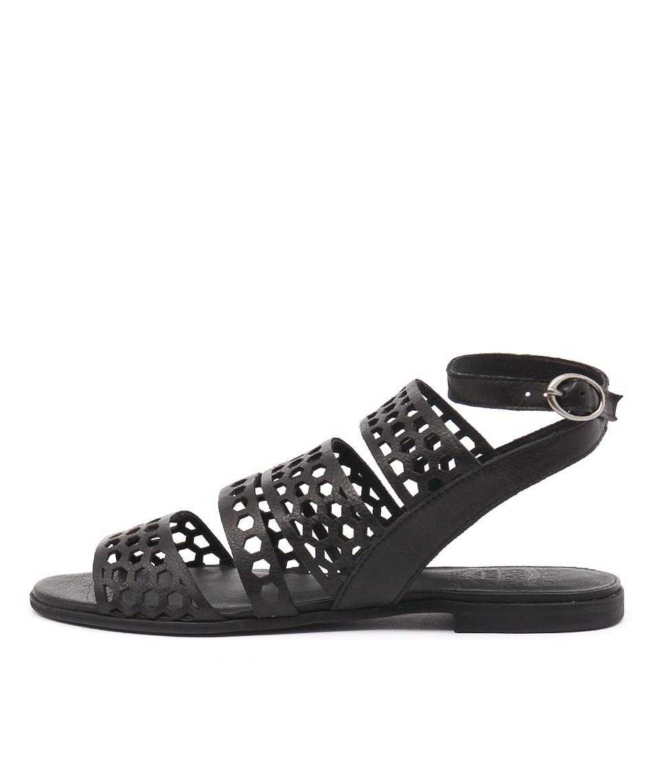 Silent D Monza Black Sandals
