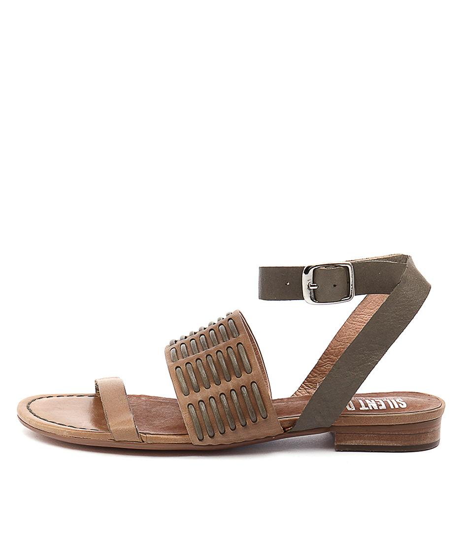 Silent D Quanda Tan Olive Sandals