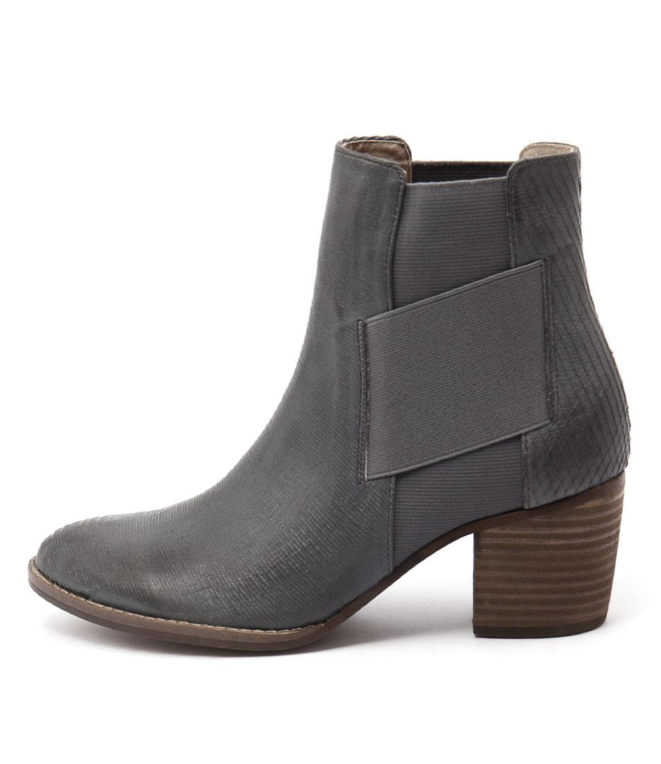 Silent D Belles Dk Grey Ankle Boots