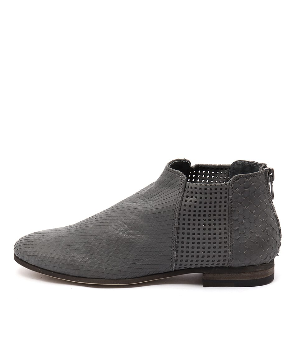 Silent D Consue Dk Grey Ankle Boots