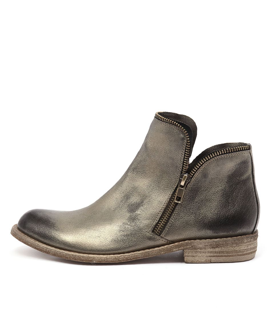 Silent D Crow Old Gold Ankle Boots