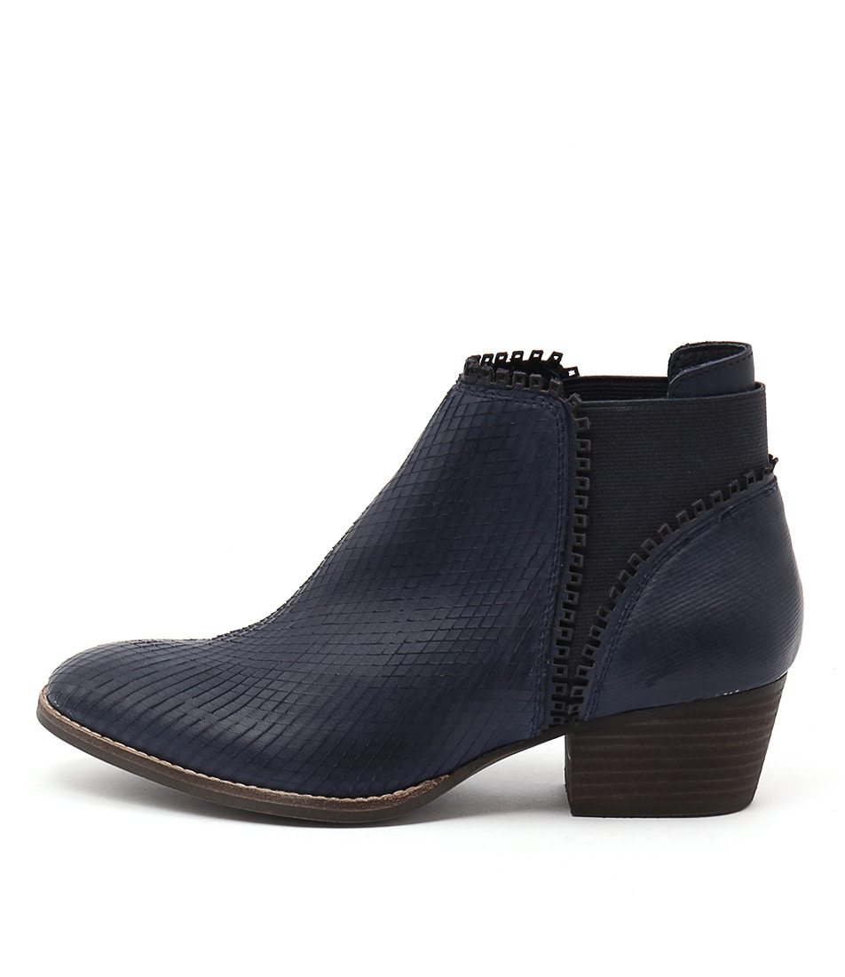 Silent D Ikka Navy Casual Ankle Boots