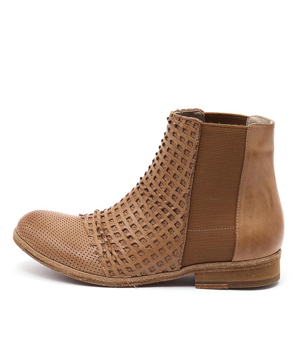 Silent D Lyric Cognac Casual Ankle Boots