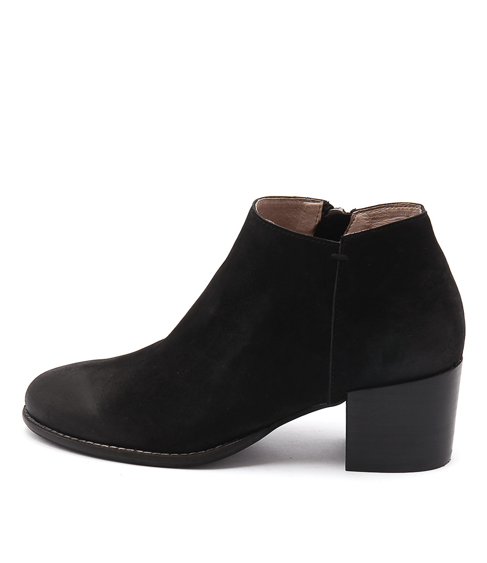 Silent D Mills Black Casual Ankle Boots