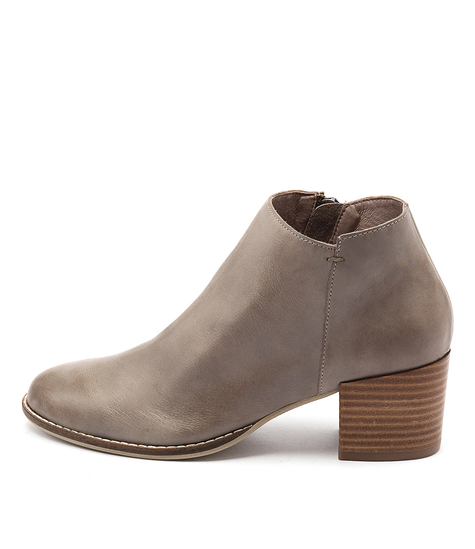 Silent D Mills Khaki Casual Ankle Boots