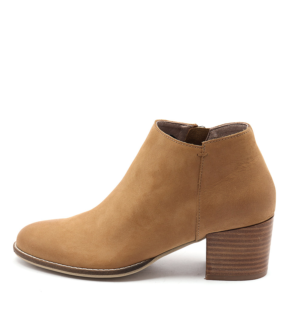 Silent D Mills Tan Casual Ankle Boots