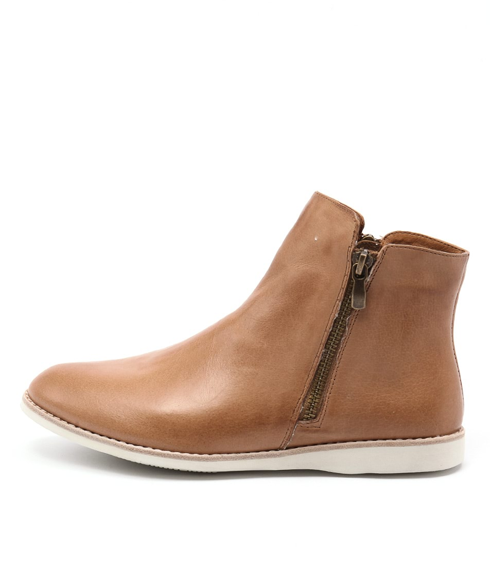 Silent D Narelle Tan Ankle Boots