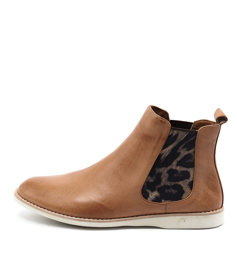 buy Silent D Nearly Tan Gold Ocelot Ankle Boots shop Silent D Boots, Ankle Boots online