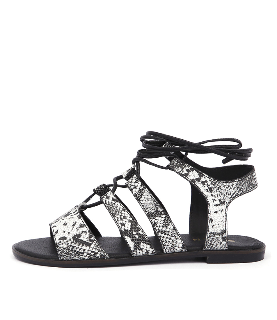 Siren Dede Black White Sandals