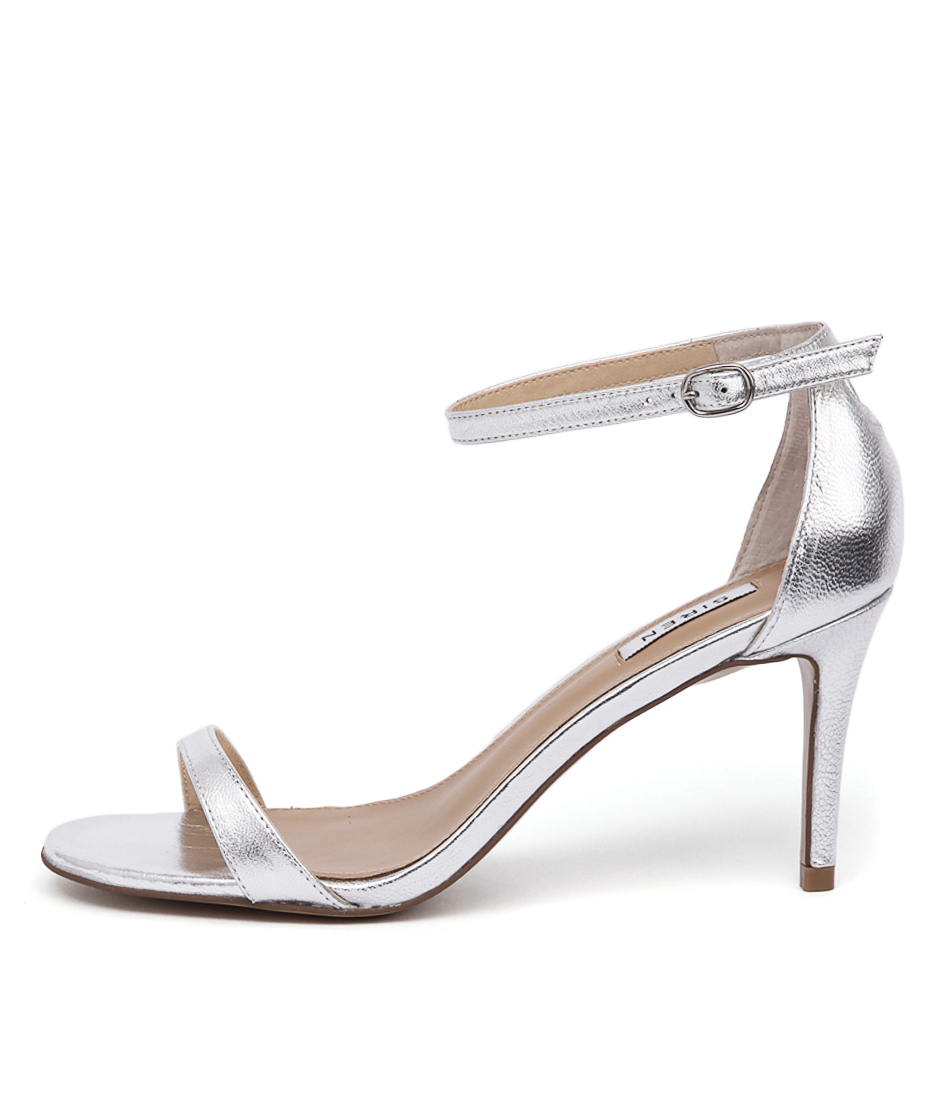 Siren Farrah Si Silver Dress Heeled Sandals