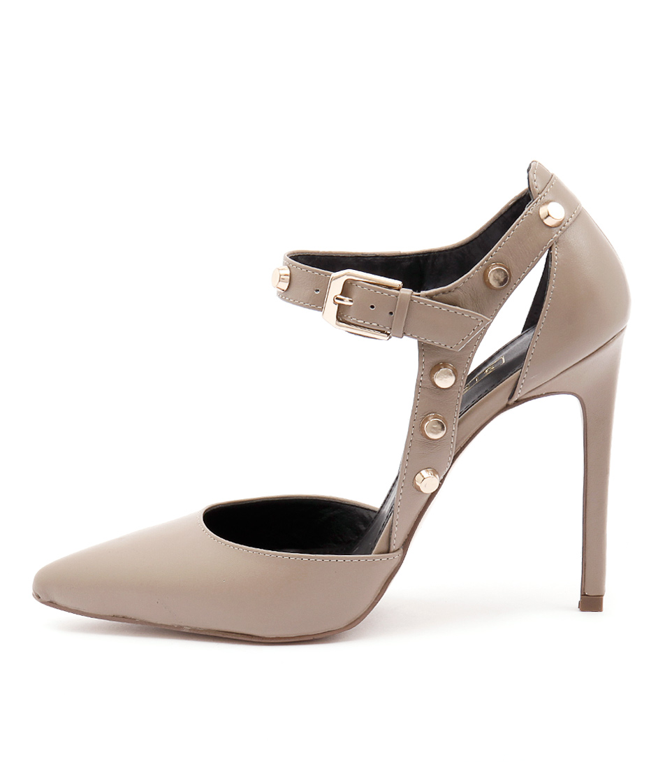 Siren Andrea Si Taupe Dress Heeled Shoes