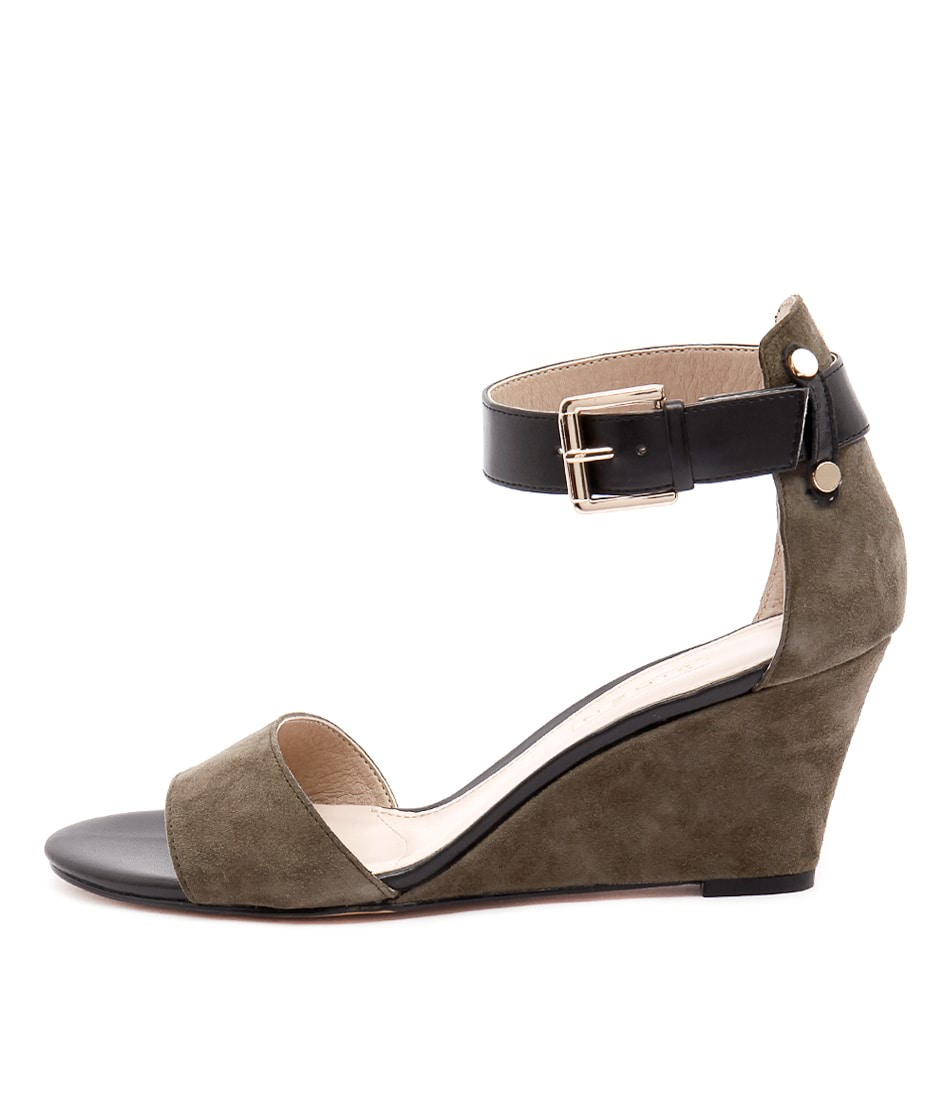 Siren Laura Si Khaki Dress Heeled Sandals