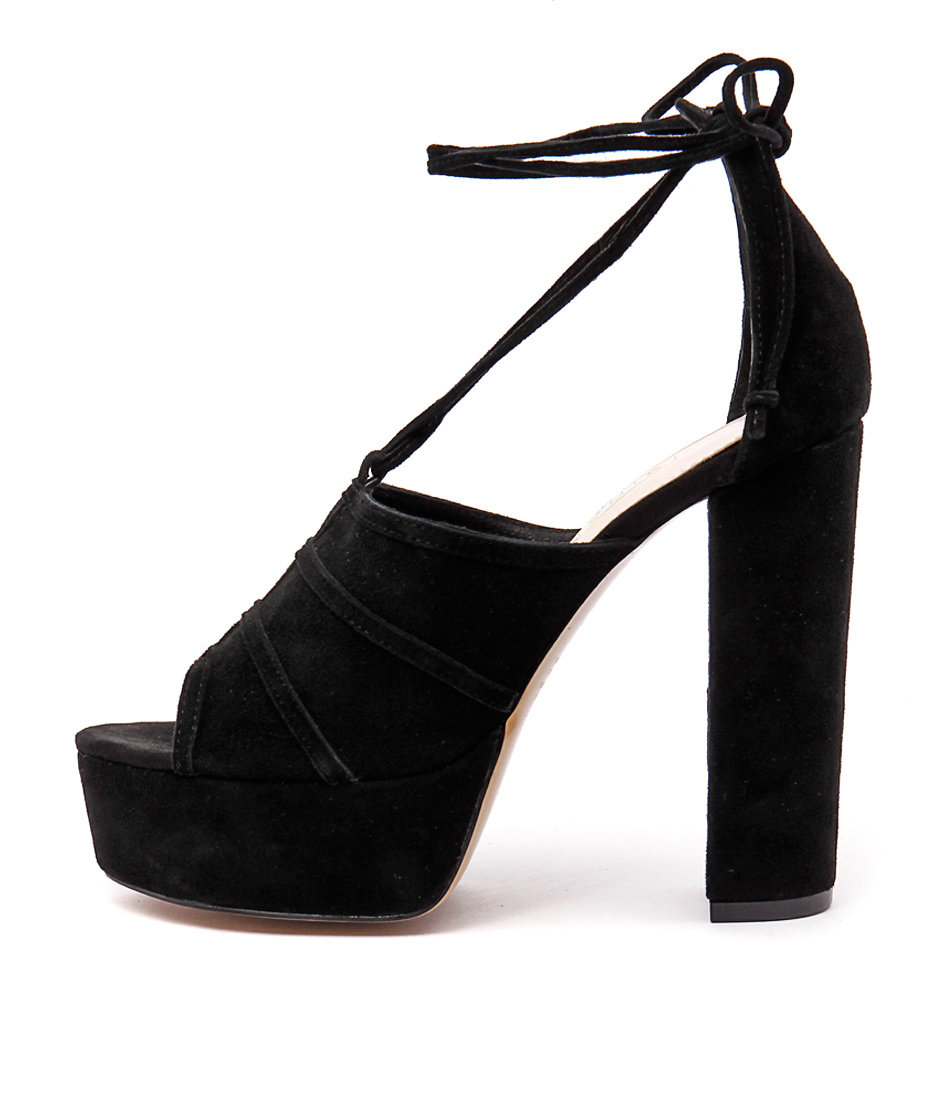 Siren Maya Black Heeled Shoes